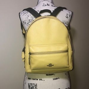 Coach Charlie leather backpack yellow